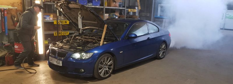 Fuel Injection cleaning connects to the engine fuel lines